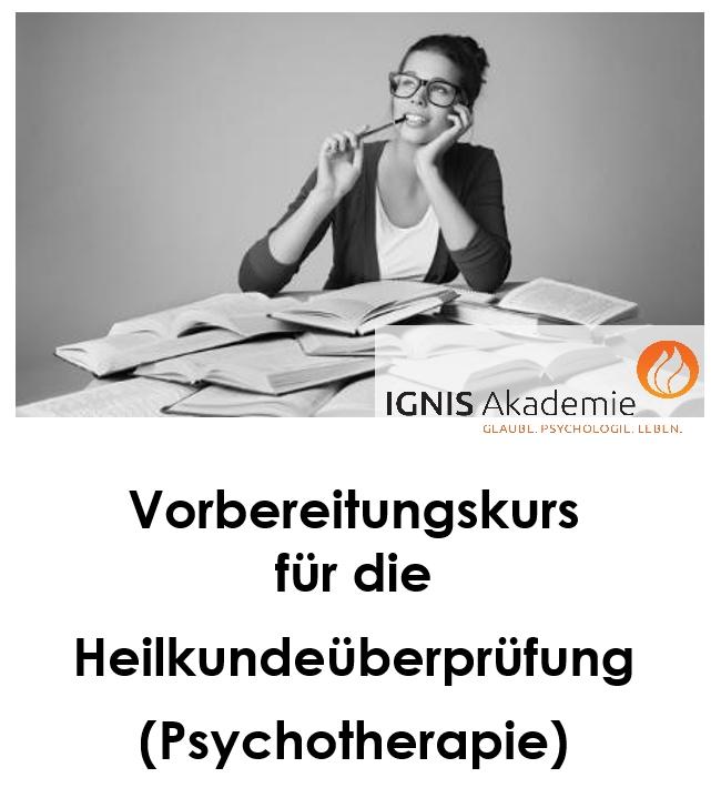Vorbereitungskurs für die Heilkundeüberprüfung (Psychotherapie)